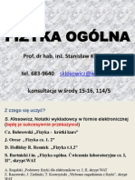 FIZYKA OGÓLNA WMT2012