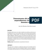 Determinantes del proceso de emprendimiento empresarial femenino en el Perú