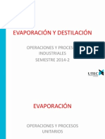 Evaporación y Destilación