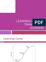 Learning curve & Transferring learning