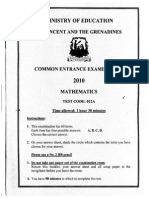 Common Entrance Mathematics 2010