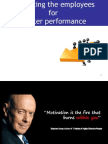 Motivating the Employees for Better Performance