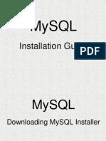 Prerequisites MySQL
