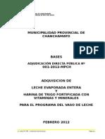 Bases Municipalidad de Chanchamayo 2012