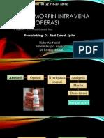 Titrasi Morfin Intravena Pasca Operasi
