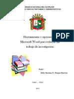 Herramientas y Opciones de Microsoft Word Para Redactar Un Trabajo de Investigación_1