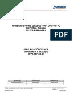 BPPE-ESP-CO- 023, Rev. 0 Topografia