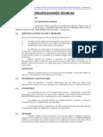 Especificaciones Técnicas Comisaria San Jose