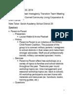 PPITT 112015 meeting minutes