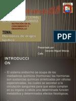 hormonas de origen lipídico en el crecimiento