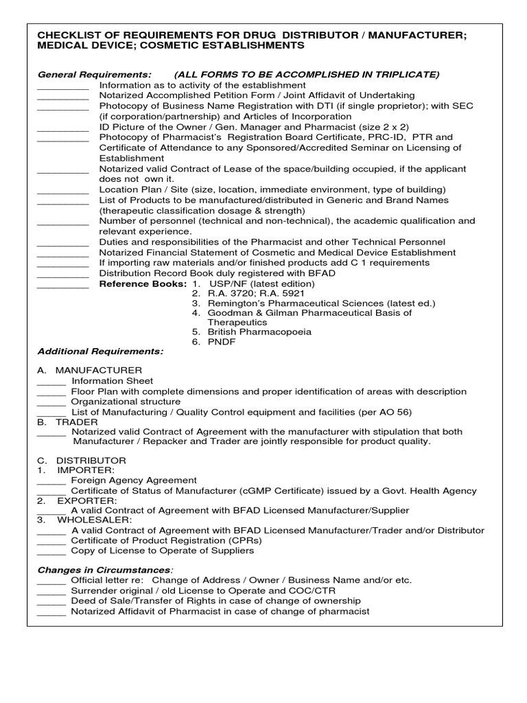 BFAD   Pharmacist   Notary Public