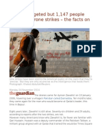 41 Men Targeted but 1,147 People Killed US Drone Strikes – the Facts on the Ground