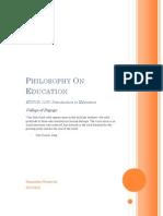 philosophy on education