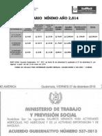 Salario Mínimo 2014