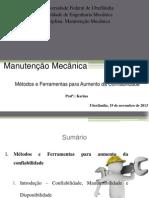 Manutenção Mecânica - Métodos e Ferramentas Para Aumento Da Confiabilidade 19-11-2013