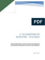 L'ALGORITMO DI BOWYER – WATSON