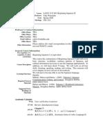 UT Dallas Syllabus for lang1312.001.08s taught by Yuki Watanabe (yukiw)