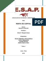 Definicion de Renta de Capital