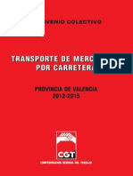 Convenio Transportes de Mercancia por Carretera 2012-201515