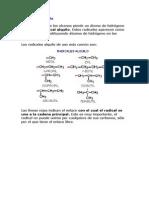 Ejercicios Nomenclatura de Alcanos UNAB