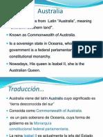Australia inglés español