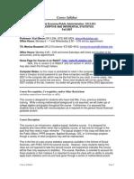 UT Dallas Syllabus for pa5313.501.07f taught by Kurt Beron (kberon)