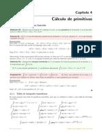 Cap 4 - Calculo de Primitivas