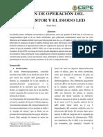 Región de Operación Del Transistor y El Diodo Led