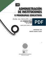 Administración de Instituciones o Programas Educativos - 2008 - Educación