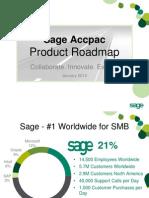 Sage Accpac Roadmap January 2010