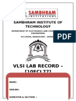 VLSI Record Cover Page
