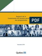 Rapport de la Commission Permanente de Révision Des Programmes