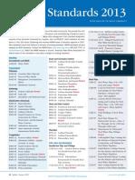 AWWA Standard List 2014