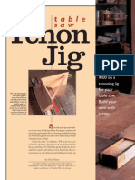 Web Table Saw Tenon Jig New
