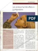 Preservatives can produce harmful effects in paediatric drug preparations