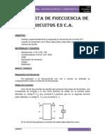 Respuesta de Frecuencia de Circuitos en c