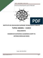 Reglamento de Examen de Suficiencia 2013