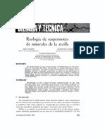 Reología de Suspensiones de Minerales de Arcilla
