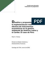Peru, instrumentos economicos en la gestion ambiental