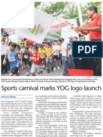 Sports carnival marks YOG logo launch, 11 Jan 2009, Sunday Times