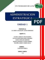 UNIDAD 1. Administracion Estrategica