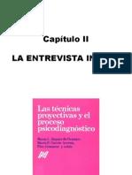 SIQUIER DE OCAMPO Y OTROS. Las Tecnicas Proyectivas y El Proceso Psicodiagnóstico, capitulo II LA ENTREVISTA INICIAL