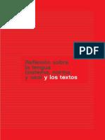textos de Enseñanza sobre la reflexión lingüística
