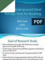 Testing Underground Steel Storage Tank for Buckling