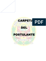 Carpeta de Postulante a La Asimilacion Complementaria-pnp 2014