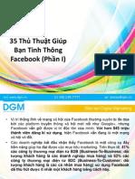 35 Thủ Thuật Giúp Bạn Tinh Thông Facebook (Phần I)
