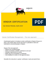 Instruction to Vendor Certificates Management