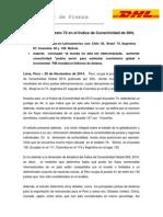 Perú ocupa el puesto 72 en el Índice de Conectividad de DHL