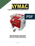 Jaymac Bar Bending O&M Manual Ver3.1