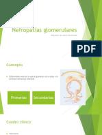 Nefropatías glomerulares